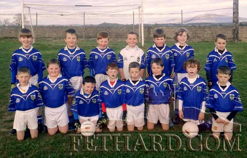 Fethard-Killusty U10 Football team that defeated Cashel Rosegreen by a wide margin in the first round of the Community Cames championships on April 26. Back L to R: Rory O'Mahony, Gavin Neville, Daniel Barry, Sam Wyse, Richard Murphy, Noah O'Flynn, Michael O'Rahilly. Front L to R: Kelvin Ryan, T.J. Keane, Sam Coen, Criostoir Sheehy, Troy Delaney, Alec Knightly, Zach Smith and Lee Delaney. Missing from Photo was Sean Thompson.