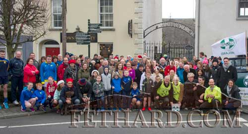 Some of the large attendance that turned out on Christmas Day in Fethard to participate in the Goal Mile to help raise funds and awareness for GOAL's programmes in the developing world.