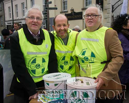Helping to collect at the Fethard Goal Mile on Christmas Day are L to R: Waltie Moloney, Colm McGrath and Miceál McCormack