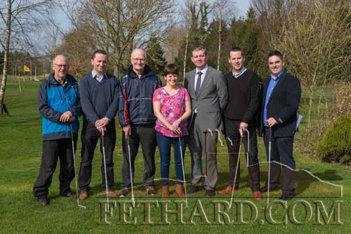 Photographed at the launch of the Patrician Presentation Golf Classic at Slievenamon Golf Club are staff members L to R: Michael O'Gorman, Justin McGree, Denis Burke (retired), Pamela O'Donnell (Parents' Association), MIchael O'Sullivan (Principal), Noel Maher and Ian O'Connor. The 'Three-ball Champagne Scramble' will take place on Friday, May 12, and Saturday, May 13, at Slievenamon Golf Club.