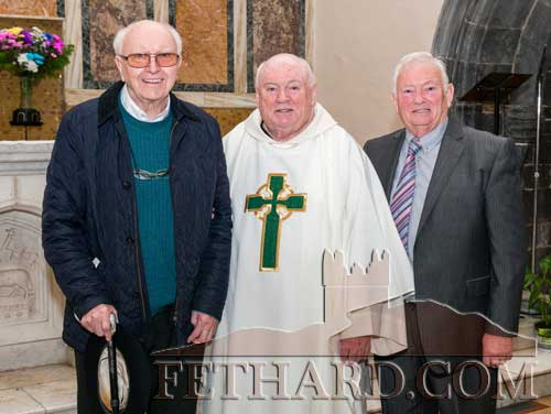 Photographed at Fr Martin Crean's Golden Jubilee Mass of his OrdinationL to R: Bro Nicholas Kearney, Fr. Martin Crean OSA and his brother Jack Crean