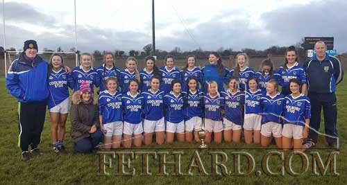 Congratulations to Fethard Ladies Minor Girls team who won the Minor 'A' County Football Final against Aherlow on Saturday, December 2, at Monroe Sports Complex. This was the club's last game of the 2017 season as the girls added the minor title to the U16 'A' and Junior 'A' titles already won this year.