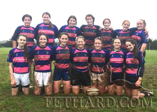 Fethard U15 Girls Rugby team who play this Saturday in the Munster League Finals At Thomand Park.