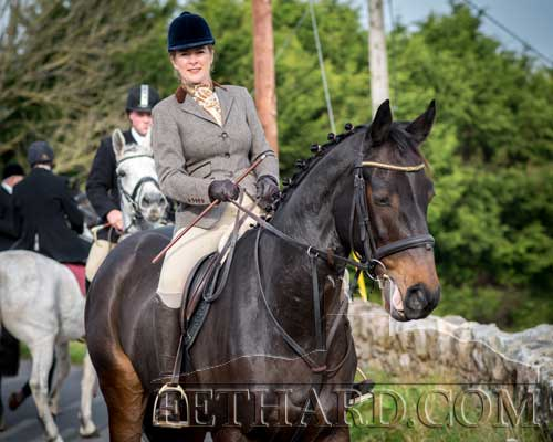 Emily Sayers photographed at the Opening Meet in Fethard.