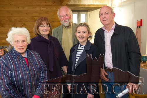 Photographed at the poetry readings held in the new Stable Café, situated downstairs at Fethard Horse Country Experience to celebrate 'World Poetry Day' on Thursday, April 27, are L to R: Goldie Newport, Mary Hanrahan, Tom Power, Georgina Conroy and John Fogarty.