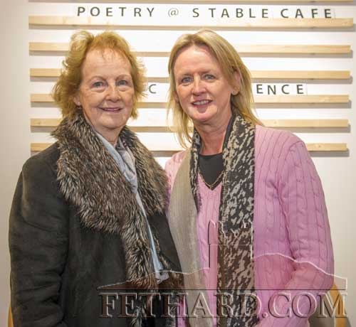 Photographed at the poetry readings held in the new Stable Café, situated downstairs at Fethard Horse Country Experience to celebrate 'World Poetry Day' on Thursday, April 27, are L to R: Maura Blackmore and her daughter Yvonne Blackmore.