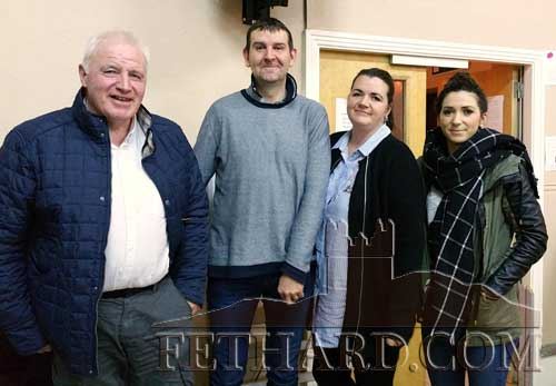 Winners of the Adult Section at the Patrician Presentation Parents' Association Table Quiz L to R:  David Morrissey, James Cowlard, Martina Cowlard and Jean Morrissey.
