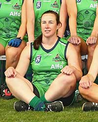 Sandra Ryan a key player with the Irish women's Australian Rules Football national team