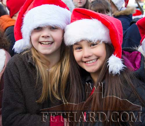 Happy faces waiting for Santa to arrive in Fethard on Friday, December 8.