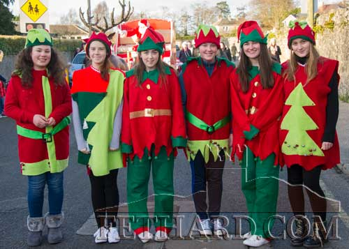 Santa's helpers on the way to The Square in Fethard before switching on the lights