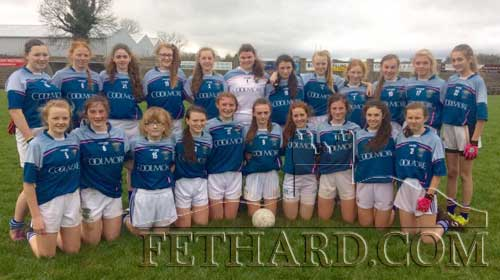 Patrician Presentation Secondary School's lady footballers who had great wins in both in the Munster Post-Primary School Junior Plate Competition and the Lidl Munster Post-Primary School Senior Cup.