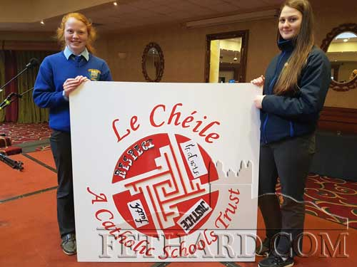 Le Chéile Conference – 5th Year Pupils Emma Cronin, Coleman and Shauna O'Neill, Lisronagh, who represented the school recently at the Annual Le Chéile Conference in the Hudson Bay Hotel in Co. Westmeath. The theme of the Conference was School Ethos.