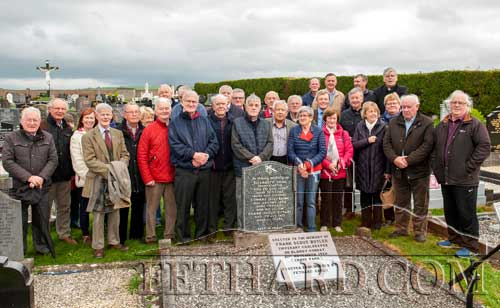 Group of Fethard Gaels who attended Calvary Cemetery last weekend for the unveiling of a plaque in memory of the late Frank 'Scout' Butler, who was Tipperary goalkeeper on Bloody Sunday, Croke Park, November 21, 1920