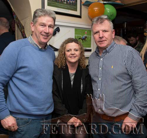 Enjoying a social chat in Fethard are L to R: Willie Quigley, Mandy Quigley and John Ward.