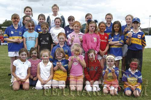 Intermediate Girls Group at Fethard GAA Summer Camp 2005