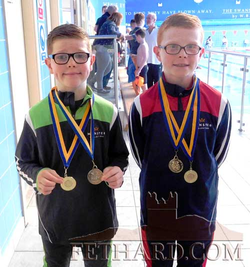 Ronan and Mark O'Meara from Redcity who will represent Tipperary in U10 and U12 Swimming events at the National Finals of the ALDI Community Games on first weekend in May. Best of Luck Boys. Mark will make a return visit in August to compete in U12 Handwriting.