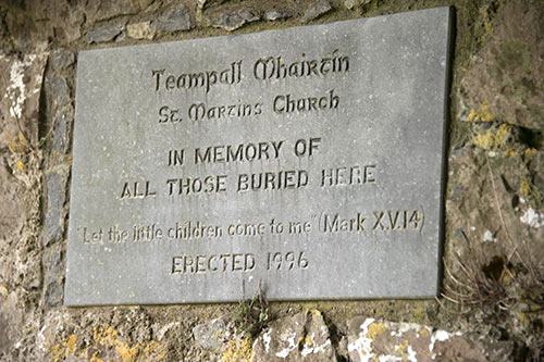 Approximately fifty people attended the Cemetery Masses held at Templemartin Church at Jesuits Walk, on Wednesday evening, July 19. Canon Tom Breen P.P., assisted by Mary Connors and Gus Fitzgerald, celebrated Mass and gave a short talk on the unknown history of Templemartin Church and remembered all the babies, unbaptised and maybe baptised, that were been buried in the ruins of the old church. It was a common practise at that time for families to bury un-baptised children in the ruins of old unused churches as they weren't allowed to be buried in 'consecrated grounds'. Parents travelled secretly by night and chose a spot inside local church ruins for such burials. Now that more decency and common sense prevails, it is no longer used since the late Canon Christopher Lee's time as Parish Priest in Fethard.