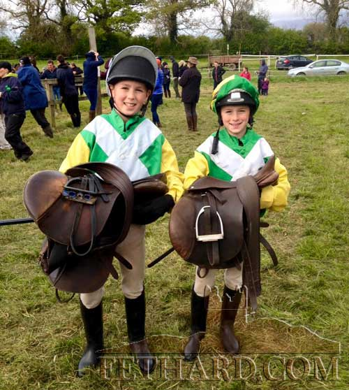 The Colville brothers then competed in the U12 pony races at the Tipperary Hunt Point-2-Point on Saturday afternoon. Patrick Colville finished 3rd to local girl, Jessica Stokes, who had a super ride to win the race. Runner up was Robyn Lee. William Colville also finished 3rd to Rosie Mai O'Grady, Killenaule, who gave a peach of a ride, with Rosie Farrell finishing in second place. These races had 19 and 12 entries respectively and proved to be very successful.