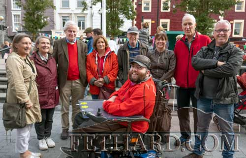 Photographed at the Cashel Arts Festival on Saturday last are L to R: Rita Kenny, Ann O'Donnell, Pat O'Donnell, Helena O'Shea, Martin O'Shea, Monica Hickey, Eddie Murphy, Shamie Hickey and in front Jack Kenny.