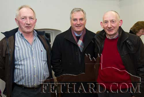 Photographed at the presentation of the Tipperariana Book of the Year award for 2017, in the Abymill Theatre on January 26, are L to R: John O'Flynn, Fr. Liam Everard P.P. and Paddy O'Dwyer (Boherlahan-Dualla Historical Journal editorial committee).