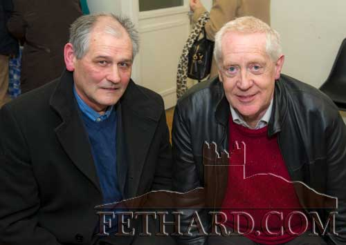Photographed at the presentation of the Tipperariana Book of the Year award for 2017, in the Abymill Theatre on January 26, are L to R: Peter Grant and John Cooney.