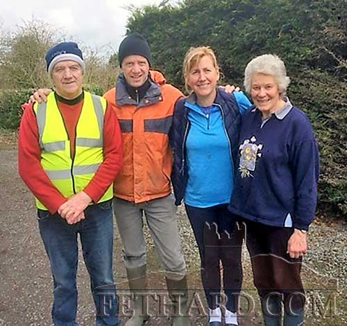 Local clean-up volunteers photographed at Drumdeel, Fethard. L to R: Larry O'Gorman, Alan Moore, Siobhan Burke and Rosemary Ponsonby.
