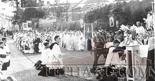 Corpus Christi Procession in the Abbey Grounds 1953