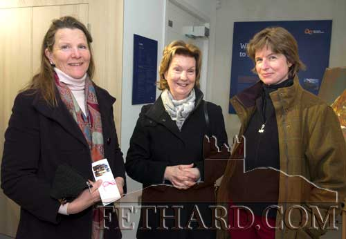 Photographed at the official opening of artist Sophie Carpentieri's 'Moody Mare' exhibition at FHC Experience, Fethard, are L to R: Anne Croome Carroll, Louise Curling and Sacha Maxwell (Slievenamon Holistic Therapy).
