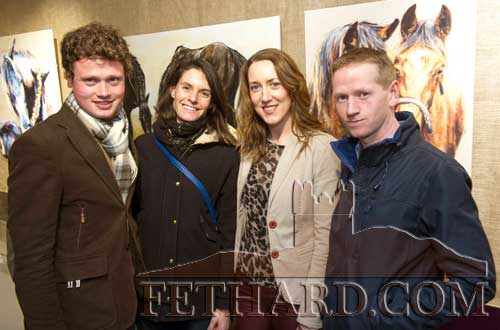 Photographed at the official opening of artist Sophie Carpentieri's 'Moody Mare' exhibition at FHC Experience, Fethard, are L to R: Pierre Gasnier, Hermine Bastide, Carmel Canavan and Dermot Burke.