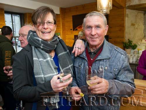 Photographed at the official opening of artist Sophie Carpentieri's 'Moody Mare' exhibition at FHC Experience, Fethard, are L to R: Becky Wren and Pat Ryan
