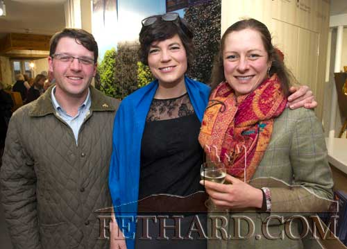 Photographed at the official opening of artist Sophie Carpentieri's 'Moody Mare' exhibition at FHC Experience, Fethard, are L to R: Jason Dunphy, Sophie Carpentieri and Cindy Wagner