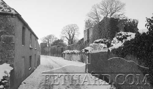 Watergate before any renovations started on Fethard Town Wall in January 1982