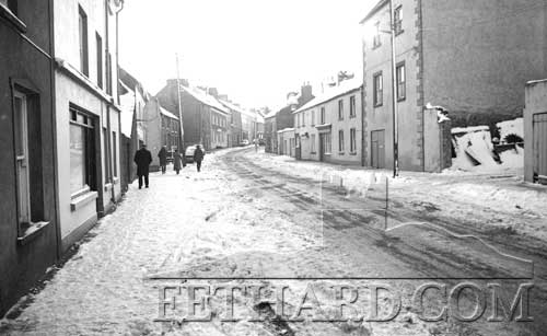 Burke Street, Fethard, in the snow January 1982