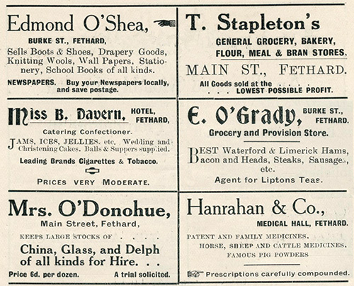 Fethard Business in 1913