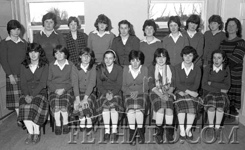 Hands & Co. Mini-Company Presentation Convent Fethard March 1983: Back L to R: Winnie Griffin, Jackie Holohan, Martina Fox, Louise O'Meara, Dorothy Croke, Valerie O'Donovan, Catherine Bowes, Caroline O'Flynn, Majella Neville and Marian Gilpin (teacher). Front: Catherine Dunne, Ellen O'Dwyer, Mary Ryan, Pauline Barrett, Bernadette Flanagan, Mary Brett, Vera Morrissey and Catherine Morrissey.