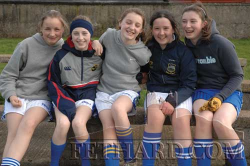 Photographed at the training session for Fethard Ladies Football on March 10, 2007 are L to R: Jane Kenny, Áine Phelan, Jean Anglim, Emma Hayes and Hanna Daly.