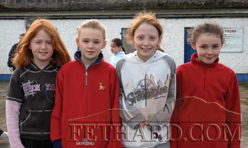Photographed at the training session for Fethard Ladies Football on March 10, 2007 are L to R: Áine Proudfoot, Aileen Butler, Annie Prout and Alana Coady.