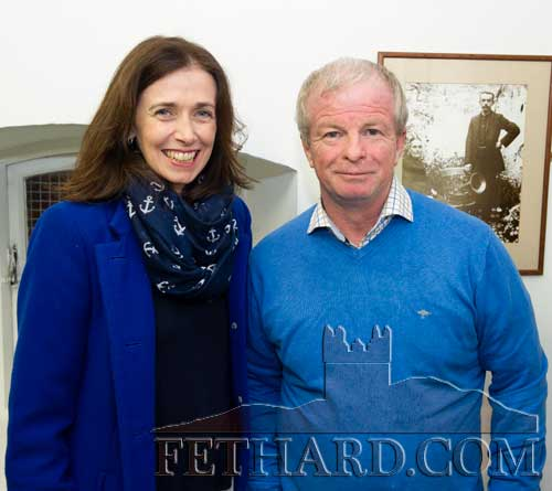 Dr Rachel Murphy, who will co-ordinate the Digital Map of Fethard project, photographed with Brian Sheehy, chairman Fethard & Killusty Community Council, at the 30th Anniversary Celebrations of Fethard Historical Society on March 23, 2018.
