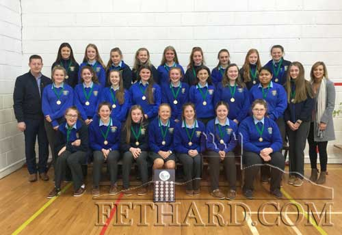 Patrician Presentation Munster Championship Winners who were presented with medals by Mr John Cummins: Caoimhe O'Meara, Gráinne Murray, Michelle Cronin, Laura Kiely, Carrie Davey, Lucy Spillane, Ciara O'Meara, Nell Spillane, Alison Connolly, Leah Coen, Maggie Fitzgerald, Sadhbh Morrissey, Chyanne Mc Donald Creed, Emma Cronin, Samantha Buckley, Lauren Needham, Ella-Mai Hackett, Jessica Moloney, Éabha Ryan, Heather Spillane, Kelly Ryan, Sophia O'Brien, Aoife Allen, Anna Cummins and Abby Mc Grath.