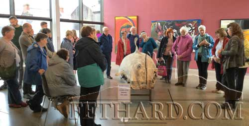 Fethard Historical Society members photographed at the 'Art and The Great Hunger' exhibition in Skibbereen