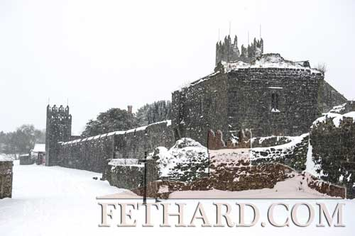 Fethard Town Wall in a beautiful snow setting on Friday, March 2