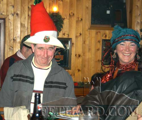 Alfie O'Flynn and organiser Marianne Shortall photographed at the bar.