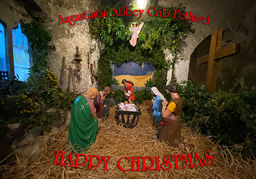 We take this opportunity to wish all our readers and supporters a very Happy Christmas with this image of the Augustinian Abbey Crip taken on Christmas Day in the setting of the old ancient abbey ruins in Fethard.