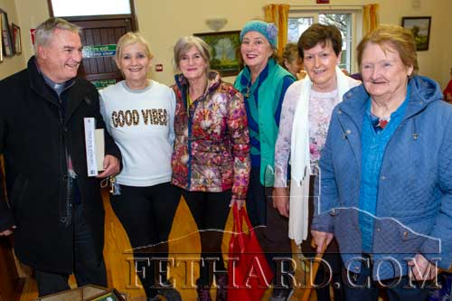 Photographed at Christmas Bazaar in aid of Fethard Day Care Centre are L to R: Fr. Liam Everard P.P., Geraldine McCarthy, Geraldine Whyte, Mary O'Doherty, Mary O'Connell and Eileen O'Donnell.