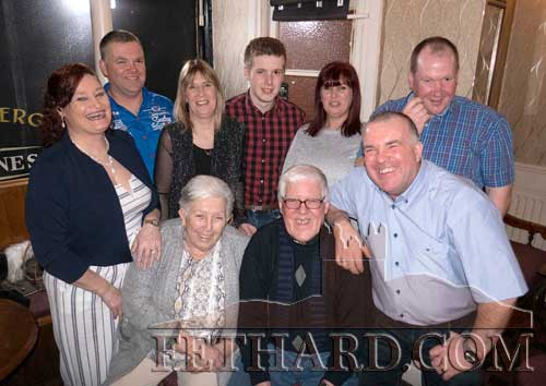 Patricia Byrne, The Green, Fethard, celebrating her 70th Birthday with her husband Pat and family members in Lonergan's Bar. Back L to R: Diane Hall Byrne, Paul Byrne, Carol Byrne, Bradley Phelan, Linda Byrne, Martin White. Front L to R: Patricia Byrne, Pat Byrne and Davy Byrne