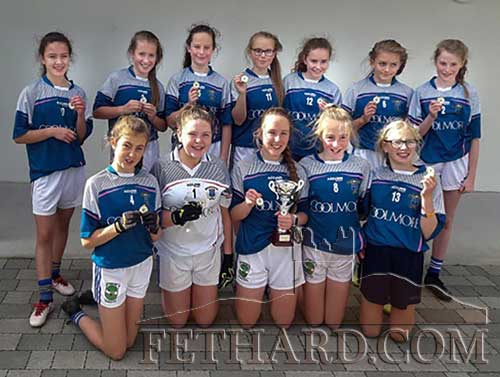 Fethard Secondary School's First Year Girls football team who beat St Josephs College Borrisoleigh in the final of the Rockwell College School Blitz