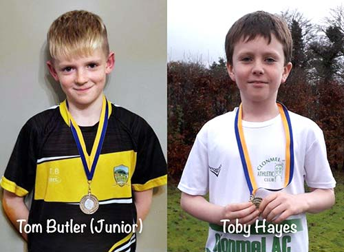 Sons of former Fethard competitors, Richie Hayes and Richie Butler, finished 1st and 2nd in the u10 boys cross country event in Thurles. Toby Hayes had an amazing run to take gold for Powerstown Lisronagh area with Tom Butler winning silver for Drangan Cloneen area, out of a total of 19 competitors. The parents of both now reside just outside the Fethard Killusty parish boundary so honours go to our neighbouring areas. Well done boys.