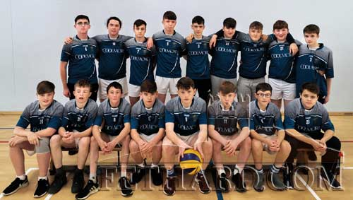 Patrician Presentation Secondary School Cadette Boys' Volleyball team that now face St Paul's CC of Waterford and Mary Immaculate in their next round to be played on November 25. in Moyle Rovers Sports Complex.