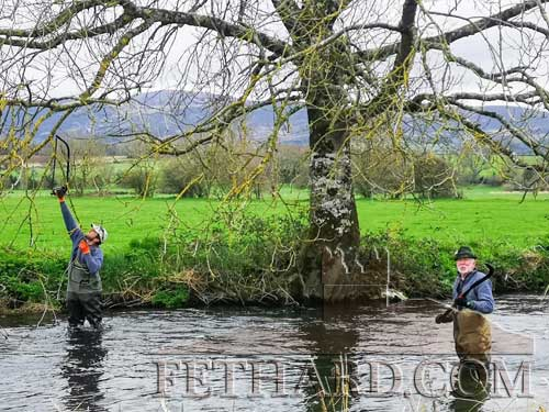 Members of Fethard & Killusty Anglers cleaning the Clashawley river banks for the club's annual competition in Fethard.