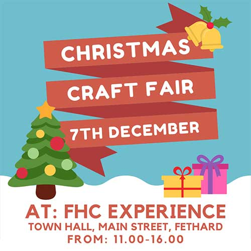 The Fethard Horse Country Experience's Annual Craft Fair will take place on Saturday December 7, from 11am to 4pm. There will be a great variety of stalls featuring locally produced crafts, as well as some lovely vintage and collectable items on offer. There will also be a raffle with all proceeds going to the Fethard Critical Illness Fund.   This year the Craft Fair will be spread out over two floors in the FHCE, so attendees will also be able to enjoy access to our exhibition for free. Please come out and support local businesses this Christmas time.